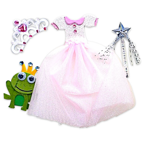 Princess Outfit Wand and Frog Craft Embellishment