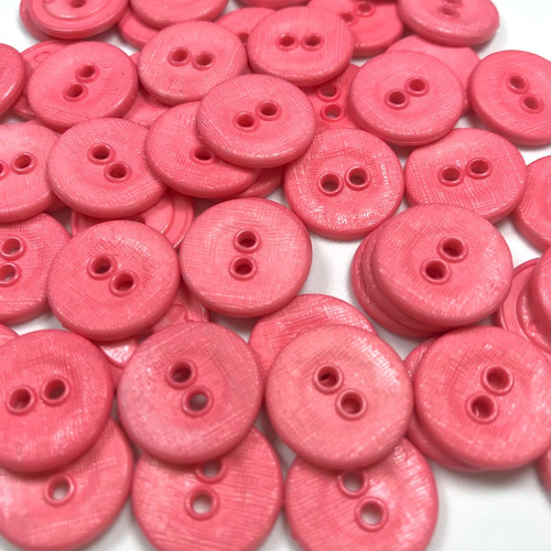 Hot Pink Button 16mm 50pc