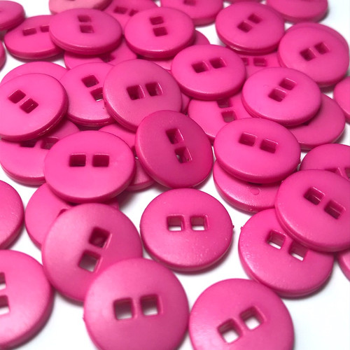 Small Hot Pink Button 11mm