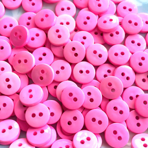 Small Pink Button 11mm