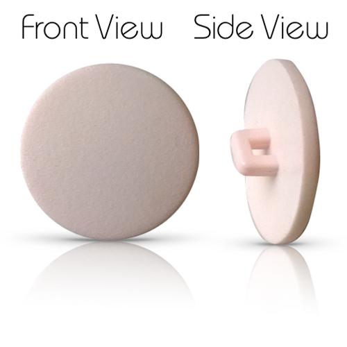 Matt Pale Pink Shank Button 22mm