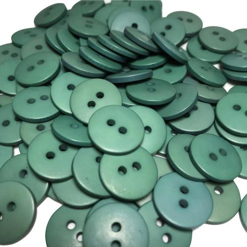 Green Button 2 Hole D:15mm