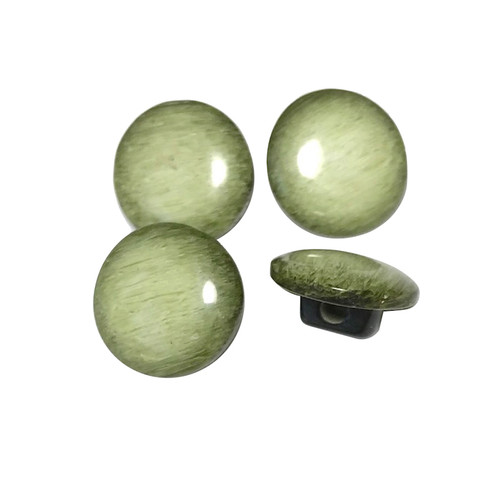 Green Button Shank D:11mm 4pc