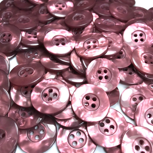 Earth Red Marbled Button 20mm