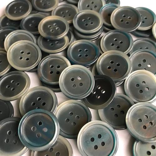 Rainbow Grey Button 18mm