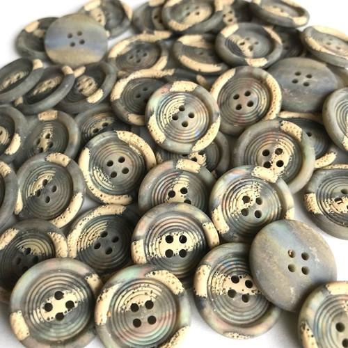 Grey Rainbow Button 20mm