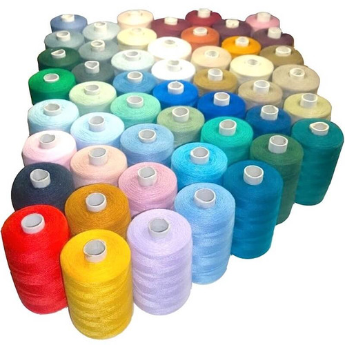 Polyester sewing thread on 1000 yard cones.