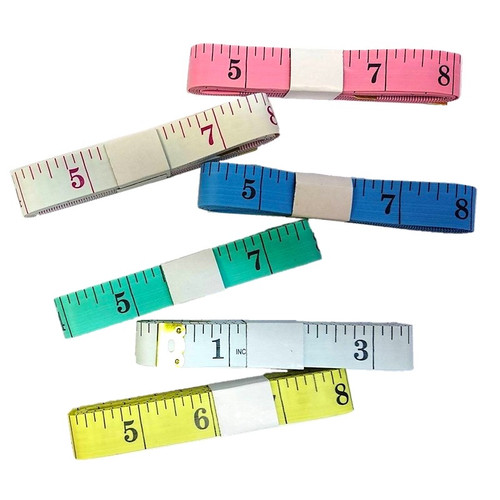 Fibre Glass tape measure, width 15mm, length 150mm. Available in 4 colours chosen at random.
