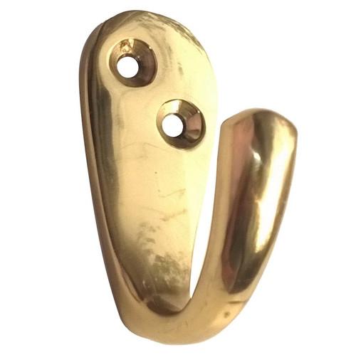Solid Brass Robe Hook Single