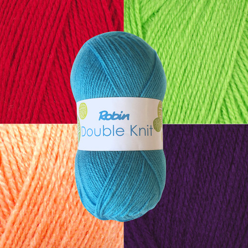 Robin DK (double knit ) Draylon acrylic yarn in a variety of colours. A bulk offer of 10 balls per purchase