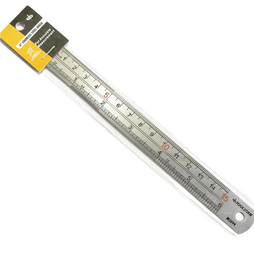Stainless steel ruler (L)15cm (6 inch)