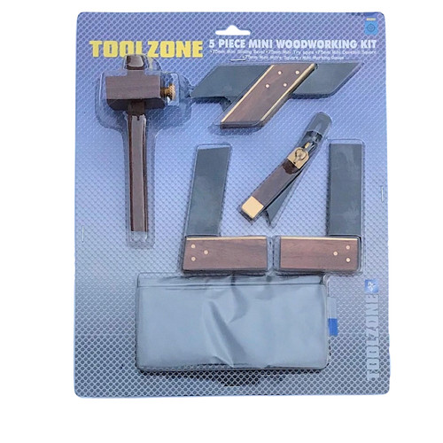This five piece mini woodworking kit.