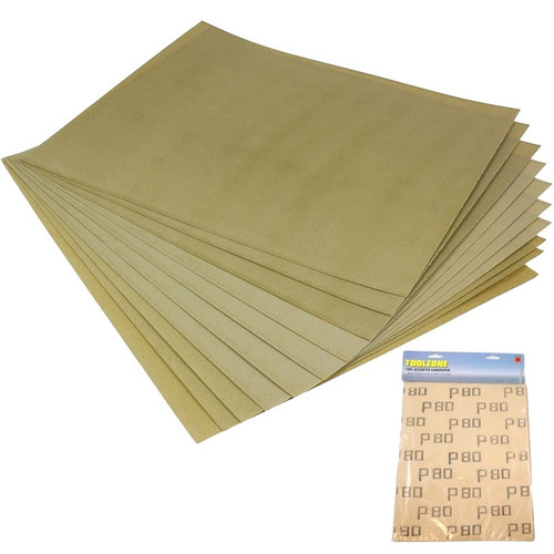 Value pack of 10 assorted sandpaper sheets