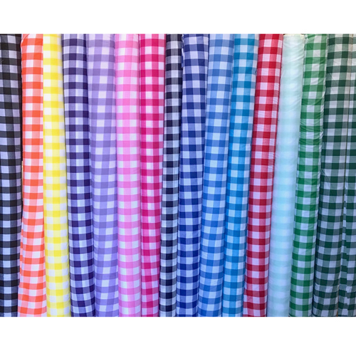 Gingham Polycotton Fabric 1 inch Square