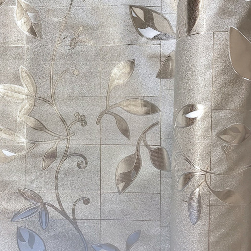 Silver vinyl wipe clean fabric also commonly called PVC or Oilcloth. Ideal for tablecloth, upholstery, bag making.