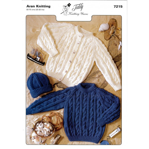 Knitting pattern pamphlet / booklet. Photo of design on from and knitting instructions inside and on reverse.