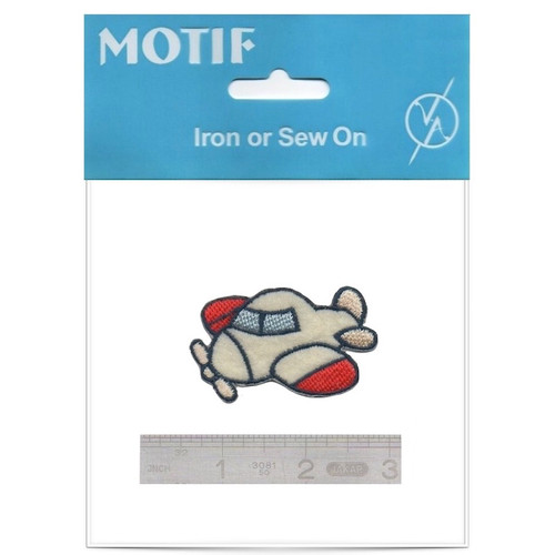 Aeroplane Iron On Motif