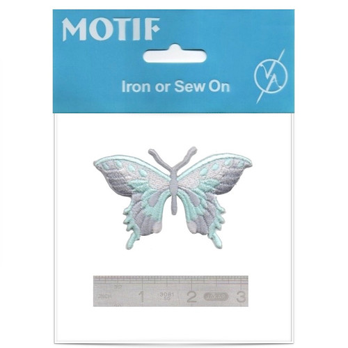 Green Butterfly Iron On Motif