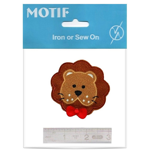 Brown Lion Iron On Motif