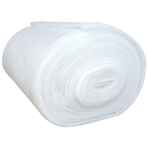 White polyester wadding in 6oz weight. Thirty nine inches wide sold by the meter.