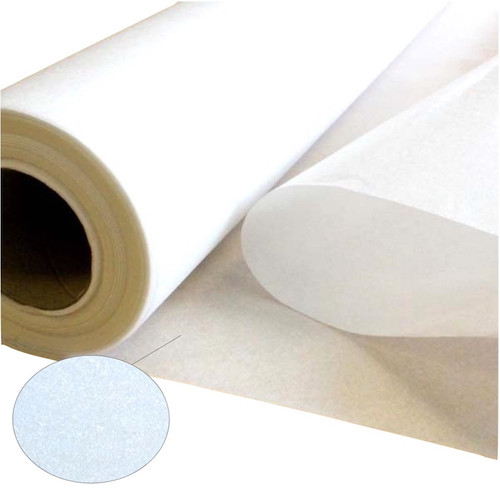Iron on interfacing also known as adhesive backed interlining. 39 inches wide on a roll of 50 meters.