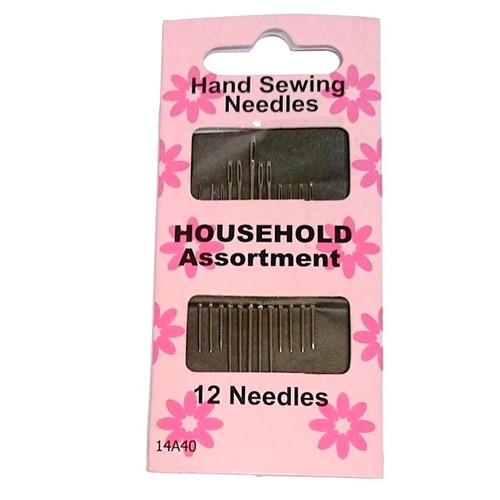 Assortment of Household Hand Sewing Needles in a variety of sizes