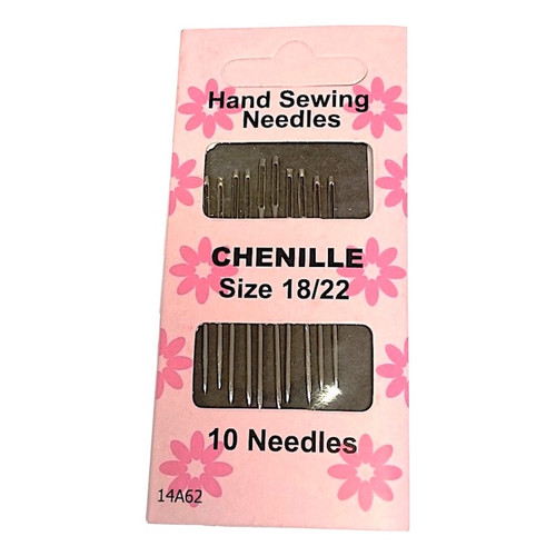 Chenille Hand Sewing Needles with large eye ideal for crewel embroidery and ribbon embroidery.