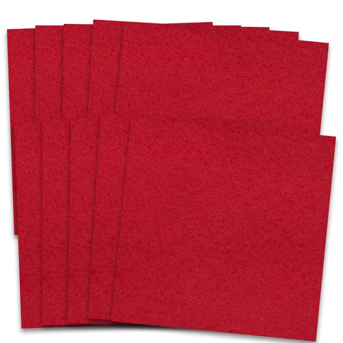Quality craft felt in packets of 10 sheets.