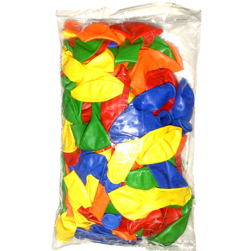 Great value bumper pack of assorted colourful round balloons.