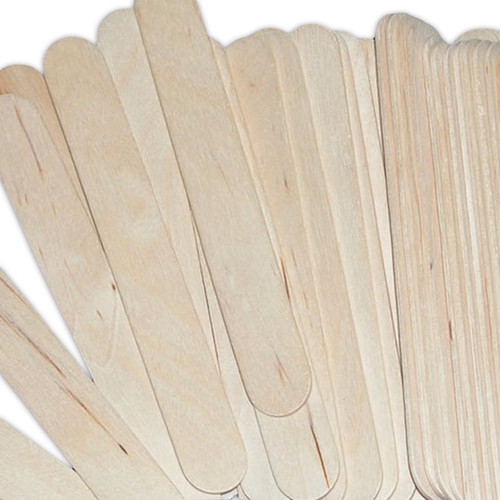 A bag of jumbo sized wooden lolly sticks that are easy to cut, paint and glue together with PVA.