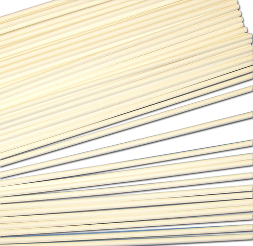 Strong solid white paper sticks used in schools for construction & science projects.