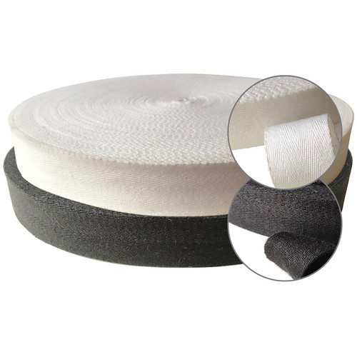 Twill tape is widely used for bunting, apron strings and towel loops. 100% cotton herringbone tape is a favourite with many crafters.