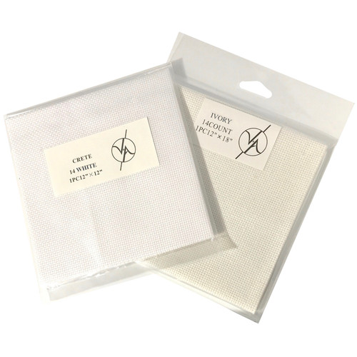 White and Cream aida in small square clear packaging. In sizes 14 count.