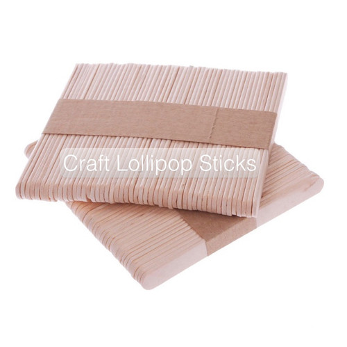Natural wooden lollipop sticks excellent for a wide range of craft and model making activities.