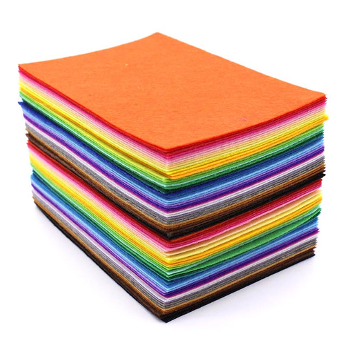 A4 sheets of felt in a variety of colours.