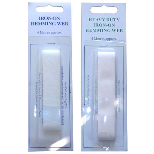 Iron on hemming web in normal or heavy duty. Each pack has 4 meters.