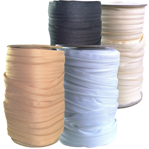 Continuous zipper chain in four colours each 100 meter roll.