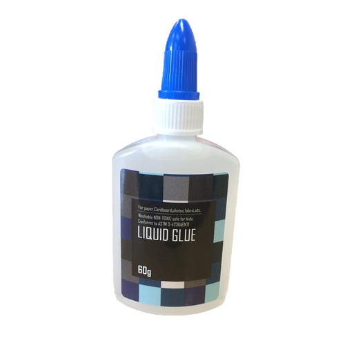 Clear PVA glue in 60g bottle with blue lid.