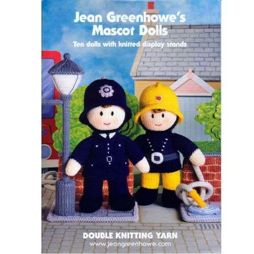 Jean Greenhowe book of knitted mascots, includes policeman, fireman and many more.