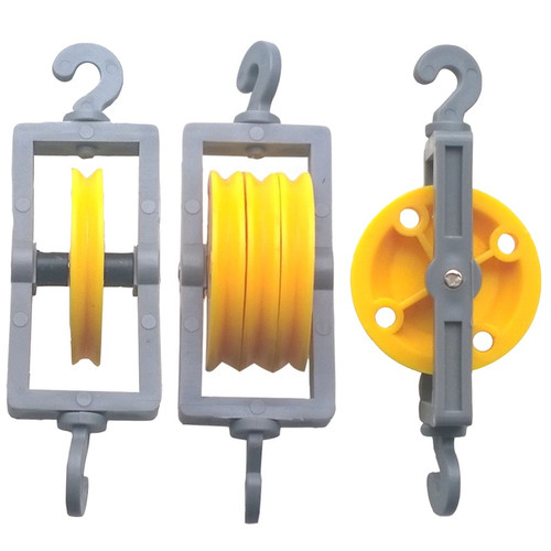 Plastic Winch Lifting Gear with Screw in Hooks