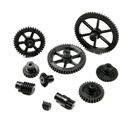 Black 40DP Plastic Gears 10 - 60 tooth 2mm Bore Hole