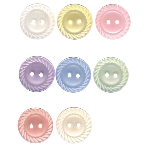 Pretty little button in pastel shades, ideal for baby and children wear as well as shirts, blouses and dresses.