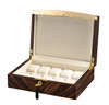 VOLTA EBONY WOOD 10 WATCH CASE - CREAM INTERIOR