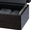 VOLTA MATTE CHARCOAL GRAIN PATTERN 6 WATCH CASE WITH SEE THROUGH TOP