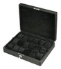 Diplomat Black Carbon Fiber Pattern Eighteen Watch Case with Black Suede Interior