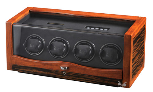 VOLTA 4 WATCH WINDER (EBONY/ROSEWOOD)