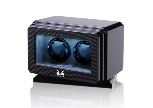 VOLTA 2 WATCH WINDER WITH ROTATING BASE (CARBON FIBER)