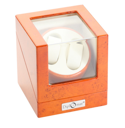 Watch Winder | Diplomat Estate Double Watch Winder (Burlwood)
