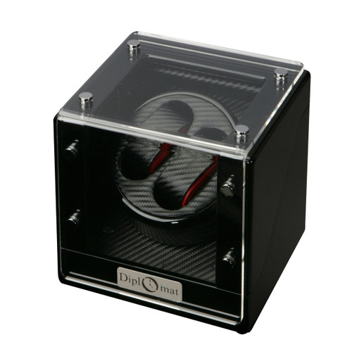 Watch Winder | Diplomat Gothica Double Watch Winder (Black Wood)