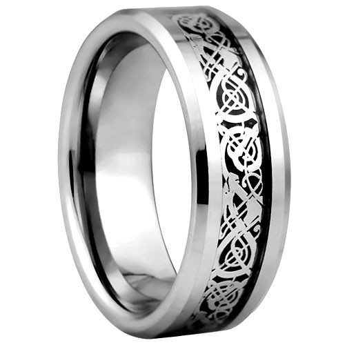 Tungsten Band - Pattern Inlay